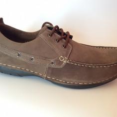 Pantofi Casual Din Piele Naturala Bărbătești, Noi in Cutie, Maro, Comozi, Nr 44 - Pantofi barbat