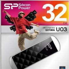 USB Flash Drive Silicon Power Ultima U03 32GB USB 2.0 Negru - Stick USB