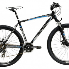 Bicicleta DHS Terrana 2725 (2017) Negru-Verde, 457mm - Mountain Bike DHS, 18 inch