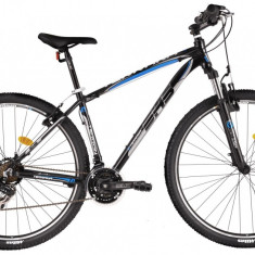Bicicleta DHS Terrana 2923 (2017) Negru-Verde, 457mm - Mountain Bike DHS, 18 inch