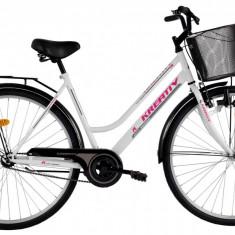 Bicicleta Kreativ 2812 (2016) culoare Alb - Bicicleta de oras, Otel