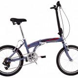 Bicicleta Pliabila DHS Folding 2095 (2017) Gri-Rosu