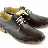 Pantofi barbati maro casual & eleganti din piele naturala, Marime: 39, 40, 41, 42, 43, 44, 45, Culoare: Negru