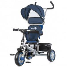 Tricicleta Cu Copertina Si Sezut Reversibil Chipolino Twister Navy - Tricicleta copii
