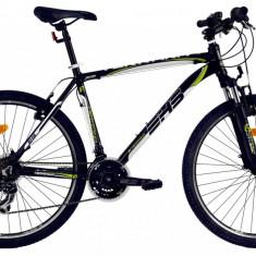 Bicicleta DHS Terrana 2623 (2017) Negru-Verde, 495mm - Mountain Bike DHS, 19.5 inch