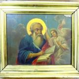 Icoana pe lemn, Sf. Evanghelist Matei, sec XX - Pictor roman