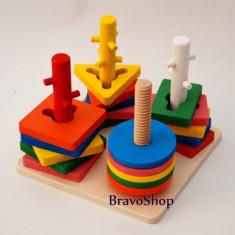 Jucarie creativa de lemn cu forme geometrice - Distractie pentru copii! - Jocuri arta si creatie