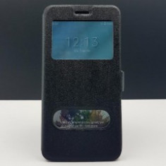 Husa FlipCover Smart View Lenovo K6 Note BLACK - Husa Telefon