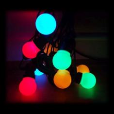 Ghirlanda multicolora cu 10 globuri, 4, 5 m, IP44