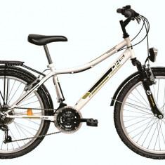 Bicicleta DHS Travel 2431 (2016) Culoare Alb - Bicicleta copii