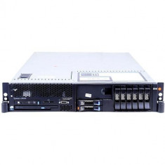 Server Refurbished IBM SYSTEM X3650, Rackabil 2U, 2x Intel Xeon E5405 2.0Ghz (Quad Core), 16GB Ram DDR2, 2x 146GB, SAS HDD, Combo, 2 surse , RAID, 2
