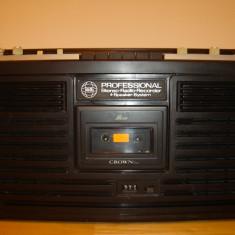 Radiocasetofon CROWN PROFESSIONAL(cu probleme)