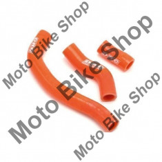SILIKON KUHLERSCHLAUCH SX250/10-11 = XC250/11-.. = XC300/11-, ORANGE, KTM, 17/312, - Furtune racire Moto