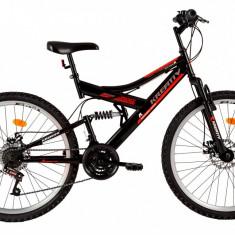 Bicicleta Kreativ 2643 (2017) Cadru 457mm Negru-Rosu - Mountain Bike, 18 inch