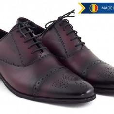 Pantofi barbati eleganti din piele naturala BORDEAUX 356 - Pantof barbat, Marime: 43, 44