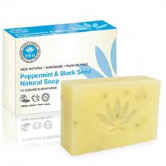 Sapun natural solid cu menta si negrilica PHB, 100g - Sifonier, Numar de usi: 1