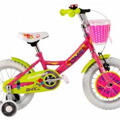 Bicicleta Copii DHS 1402 (2016) Culoare Roz