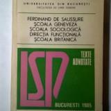 Lingvistica saussuriana si postsaussuriana : texte adnotate