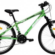 Bicicleta DHS Terrana 2423 (2016) Culoare Verde/Alb - Bicicleta copii