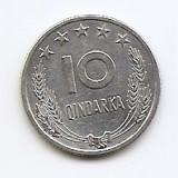 Albania 10 Qindarka 1969  (Liberation) Aluminiu, CM1 , 20 mm KM-45, Europa