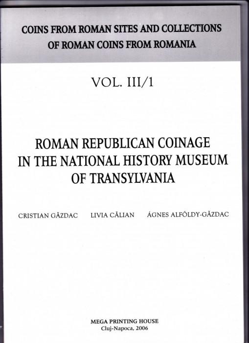 3.Carte-Gazdac:Monedele romane republicane in Muzeul de Istorie a Transilvaniei