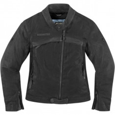 Geaca moto textil, Icon Hella 1000, neagra - Imbracaminte moto