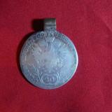 Moneda- Medalion, cu agatatoare 20 kr.1806 litera A Ungaria, Francisc II argint, Europa