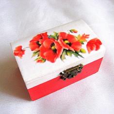 Cutie din lemn -maci-28659