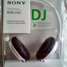 Casti Sony MDRV 150 tip DJ cu fir -sigilate, Manual + Garantie de la producator-, Casti On Ear, Mufa 3, 5mm