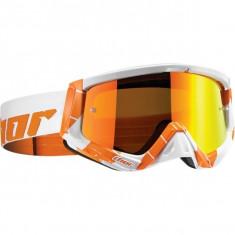 Ochelari cross Thor Sniper, portocaliu/alb - Ochelari moto