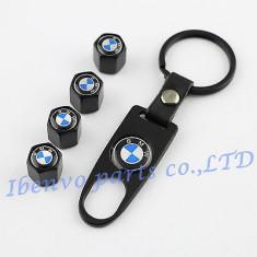 Capacele ventil cu breloc BMW, negru mat - Breloc Auto