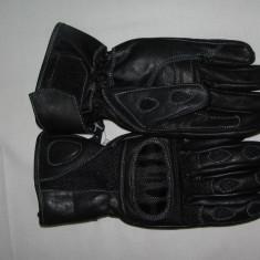 Manusi moto piele/textil, culoare negre