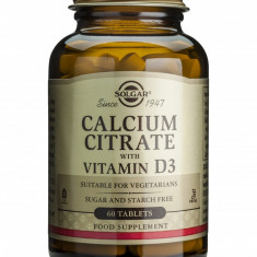 CALCIUM CITRATE 250mg cu D3 60 tablete