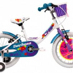 Bicicleta Copii DHS Duchess 1604 (2016) Culoare Alb, 9 inch