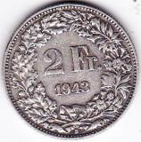 Elvetia 2 FRANCS franci 1943 argint 10 gr 835, Europa