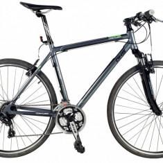 Bicicleta DHS Contura 2865 Culoare Gri/Verde – 530mm - Bicicleta Cross, 21 inch