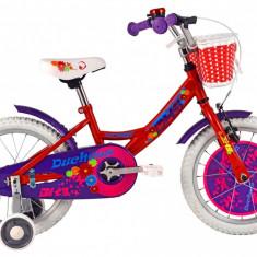 Bicicleta Copii DHS Duchess 1602 (2016) Culoare Rosu