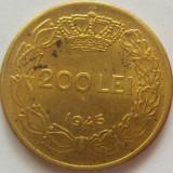 Moneda 200 Lei - ROMANIA, anul 1945 *cod 4741 patina+luciu de batere - Moneda Romania