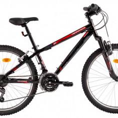Bicicleta DHS Terrana 2423 (2016) Culoare Negru/Rosu - Bicicleta copii
