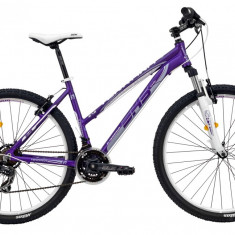Bicicleta DHS Terrana 2722 (2016) Culoare Violet/Alb 457mm - Mountain Bike DHS, 18 inch
