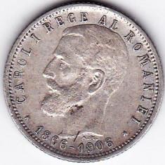 Regalitate Carol I 1 leu 1906 moneda comemorativa argint 5 gr 835 (1) - Moneda Romania