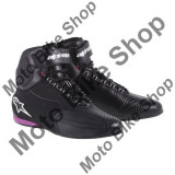 Ghete moto fete Alpinestars Faster 2, negru/fucsia, 7=38.5,