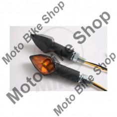 Set semnalizari Shin Yo Kite, 12V/6W, brat lung, prindere M8, negru, - Semnalizare Moto
