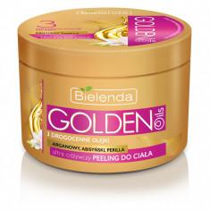 Scrub de corp ultranutritiv cu ulei de argan, perilla, abisinian gama Golden Oils 200ml