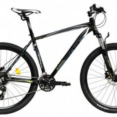 Bicicleta DHS Terrana 2727 (2017) Negru-Verde, 457mm - Mountain Bike DHS, 18 inch
