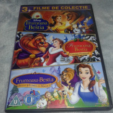 Colectie 3 DVD Frumoasa si Bestia - dublate in limba romana, disney pictures
