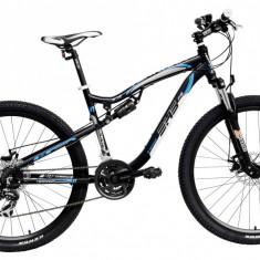 Bicicleta DHS Terrana 2745 (2016) Culoare Negru/Alb/Albastru 440mm - Mountain Bike DHS, 17.5 inch