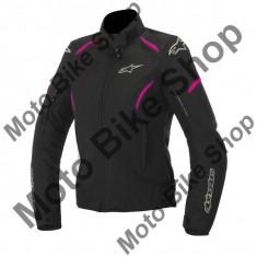 Geaca impermeabila fete Alpinestars WP Gunner Black, negru-fucsia, S, - Imbracaminte moto