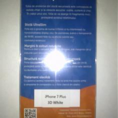 Folie protectie sticla securizata iPhone 7 Plus Full 3D - White (TemperedGlass) - Folie de protectie TemperedGlass, Anti zgariere