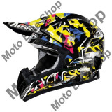 Casca motocross Airoh Cr901 Rookie, negru-galben, S=55-56,